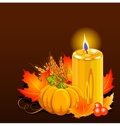 Thanksgiving Day Still Life vector image vector image