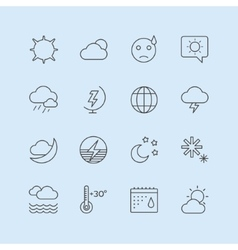 Weather Icons Set Moon Sky or Wind and vector image vector image