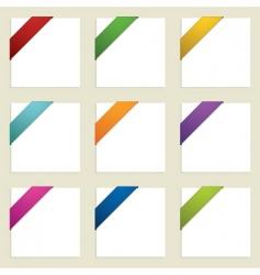 corner ribbons vector image