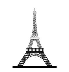 Eiffel Tower Black Silhouette vector image
