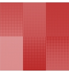 grunge red halftone banners set Dot vector image vector image