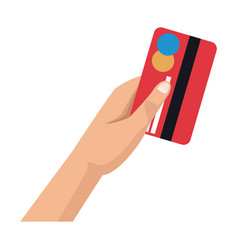 hand with credit card payment financial concept vector image vector image