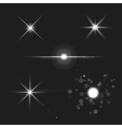 lens flares star lights vector image vector image