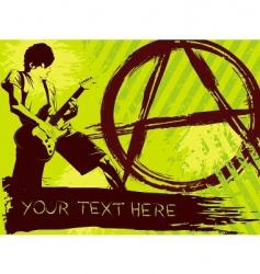 punk rock background vector image