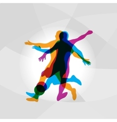 Silhouettes of Soccer Players vector image