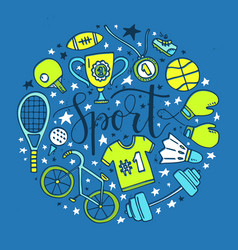 sport circle vector image