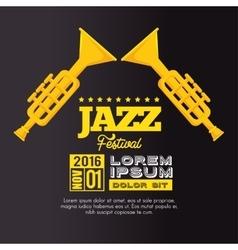 trumpets festival jazz music design vector image
