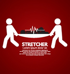 Medical Workers Moving Patient On Stretcher vector image