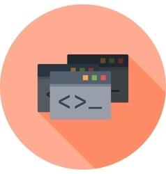 Programming Windows vector image vector image