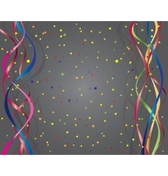 ribbons and confetti vector image