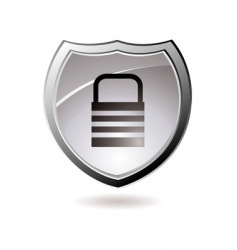 secure shield vector image vector image