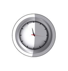Sticker screen chrome stopwatch timer counter icon vector