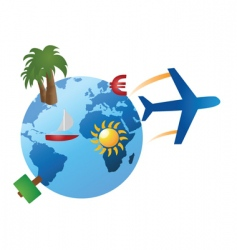 vacation and travel vector image vector image