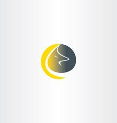 wolf moon logo icon vector image vector image