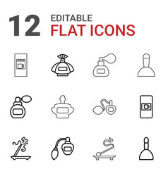 12 aroma icons vector