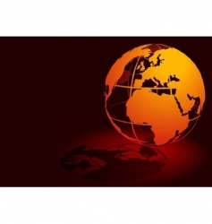 3d globe red vector image