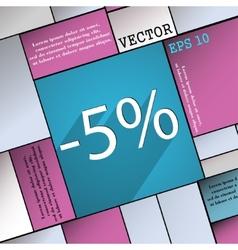 5 percent discount icon symbol Flat modern web vector