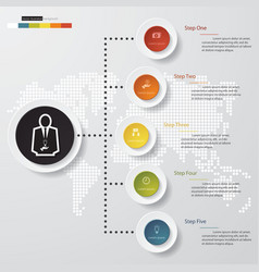 Abstract 5 steps chart infographis elements vector