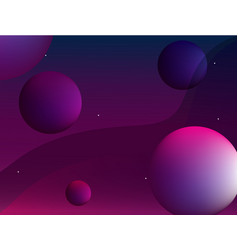 abstract background with 3d bubbles and gradient vector image