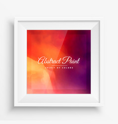 Abstract colorful background with realistic frame vector