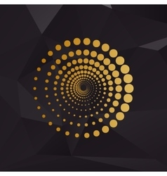 Abstract technology circles sign Golden style on vector image