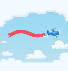 airplane with flag flying vector image