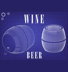 Barrel on a blue background vector