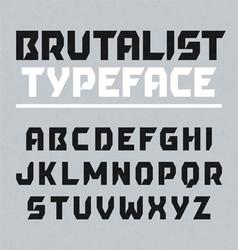 Brutalist typeface vector