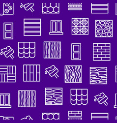 building construction materials signs thin line vector image