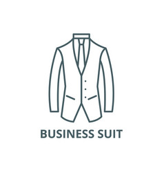 business suit line icon business suit vector image