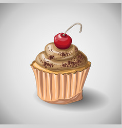 Capcake chocolate hand draw vector