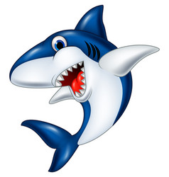 cartoon smiling shark vector image