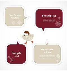 Christmas speech bubbles vector