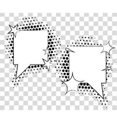 Comic speech bubbles with halftone shadows vector