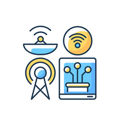 Communications infrastructure rgb color icon vector