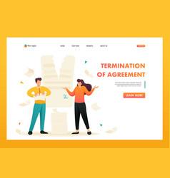 Contract break the agreement between the companie vector