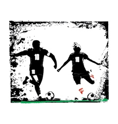 Couple soccer vector