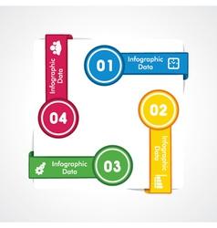 creative arrow info-graphic vector image