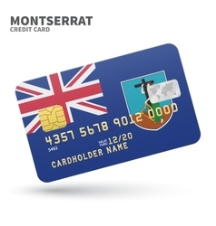 Credit card with Montserrat flag background for vector