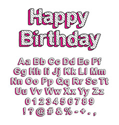 Cute font in style lol doll surprise vector