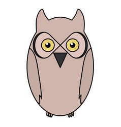 cute owl bird woodland character vector image