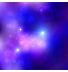 Dark blue cosmic background vector