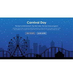 Design amusement park banners vector image