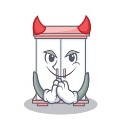 devil cabinet character cartoon style vector image