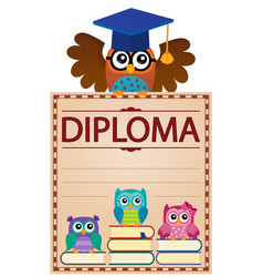 Diploma theme image 4 vector
