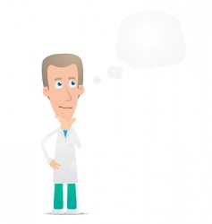 doctor visited idea vector image