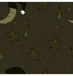 Doodle seamless night pattern background2 vector