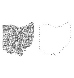 Dotted contour map of ohio state vector