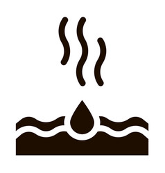 Drop water dripping in sea icon vector