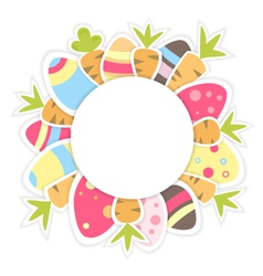 Easter carrots pattern on a white vector image